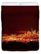 Seattle Night Traffic Too Duvet Cover