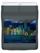 Seattle Skyiline Duvet Cover