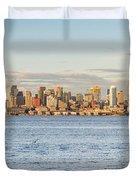 Seattle Skyline 2 Duvet Cover