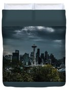 Seattle Skyline - Dramatic Duvet Cover
