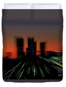 Seattle Skyline Motion Duvet Cover