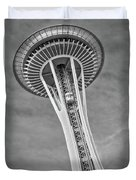 Seattle Space Needle Bw Duvet Cover
