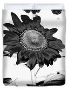 Seattle Sunflower Bw Invert - Stronger Duvet Cover