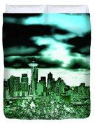 Seattle - The Emerald City Duvet Cover