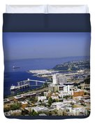 Seattle Waterfront Duvet Cover