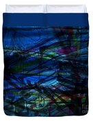 Seaweed And Other Creatures Duvet Cover