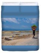 Seaweed Farmer Duvet Cover