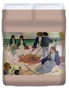 Seaweed Gatherers Duvet Cover