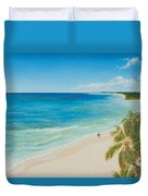 Secluded Beach Walk Duvet Cover
