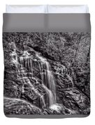 Secluded Falls - Bw Duvet Cover