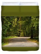 Secluded Forest Road Duvet Cover