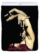 Seclusion Del Flamenco Duvet Cover