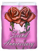 Second Anniversary Duvet Cover