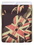 Second British Invasion Duvet Cover