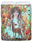 Second Chakra  Angel A Supernova Who Grew Up To Be Stardust Duvet Cover