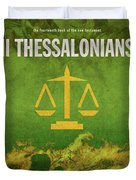 Second Thessalonians Books Of The Bible Series New Testament Minimal Poster Art Number 14 Duvet Cover