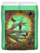Secret Butterfly Garden Duvet Cover
