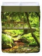 Secret Garden Bridge Duvet Cover