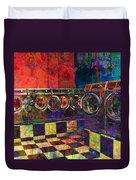 Secret Life Of Laundromats Duvet Cover
