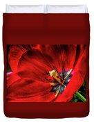 Secret Of The Red Tulip Duvet Cover