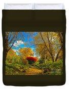 Secret Path At Lafayette Park Landscape Duvet Cover