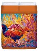 Secrets In The Grass - Pheasant Duvet Cover