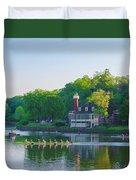 Sedgeley Club - Boathouse Row Duvet Cover