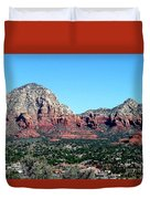 Sedona Arizona City Scape Duvet Cover