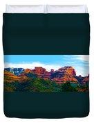Sedona Arizona Red Rock Duvet Cover by Jill Reger