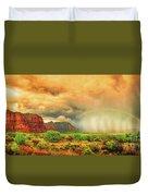 Sedona Storm, Sedona, Arizona Duvet Cover