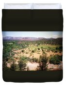 Sedona View Red Rock Mesa Duvet Cover