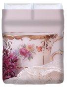 Sedum Flower Still Life Duvet Cover
