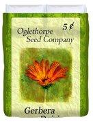 Seed Packet -- Gerbera Daisies Duvet Cover