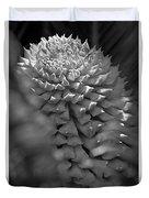Seed Pod Black And White Duvet Cover