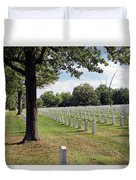Seeing The Air Force Memorial From Arlington National Cemetery Duvet Cover