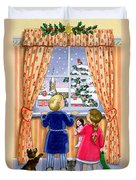 Seeing The Snow Duvet Cover by Lavinia Hamer