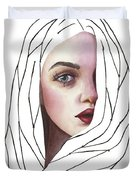 Seeing You Duvet Cover