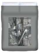 Segmented Line Series #11 Duvet Cover