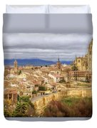 Segovia Cathedral View Duvet Cover