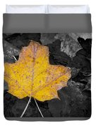 Selective Color Leaf Duvet Cover