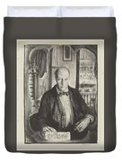 Self-portrait, First State By George Bellows 1882-1925 Duvet Cover