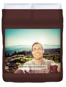 Self Portrait From A Mountain Top Duvet Cover