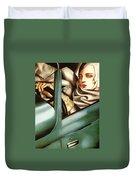 Self Portrait In A Green Bugatti Duvet Cover