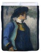 Self-portrait In Bretonnian Garb Duvet Cover