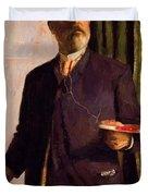 Self Portrait In Studio 1893 Duvet Cover