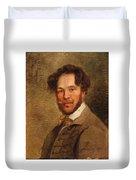 Self-portrait Of The Artist Duvet Cover