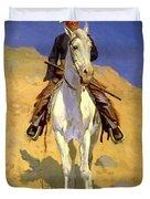 Self Portrait On A Horse 1890 Duvet Cover