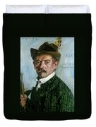 Self Portrait With Tyrolean Hat Duvet Cover