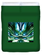 Self Reflection - Blue Green Duvet Cover