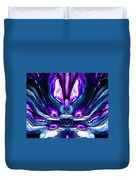 Self Reflection - Purple Blue Duvet Cover